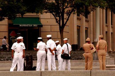 Navy visiting washington D.C.