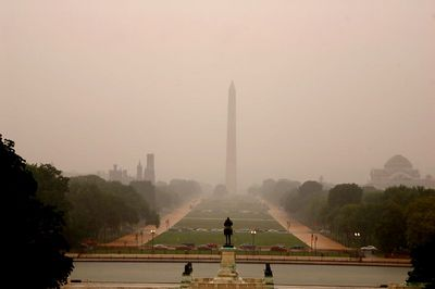 Raining on the national Mall