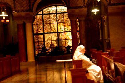Just after Mass at the Basillica