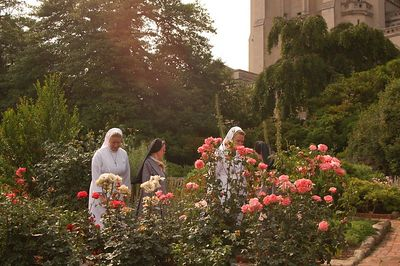 Lovely ladies enjoying the gardens at the NationalCathedral