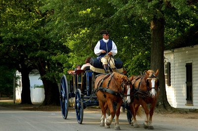Taxi at Colonial Williamsburg