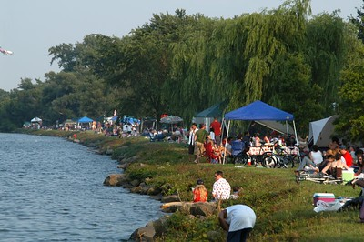 Independence Day celebrations ..on the banks of the Potomac River  offered family fun