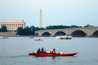 The Potomac River was the scene of varied boats