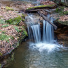SMALL WATERFALL NEAR ASH CAVE HOCKING HILLS OHIO