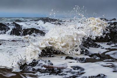 FOAMING SEA: YACHATS, OREGON