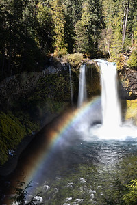 RIVER BOW: KOOSAH FALLS, MCKENZIE HIGHWAY, OREGON