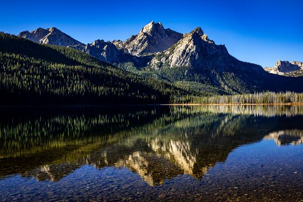 SUNKISSED SUNRISE: STANLEY LAKE, SAWTOOTH MOUNTAINS IDAHO