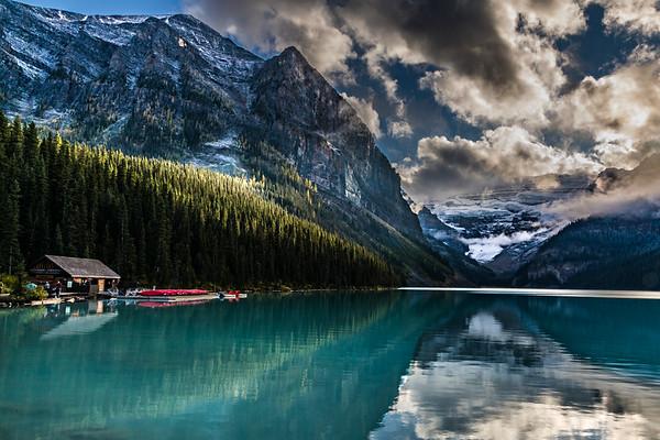 LIGHTBURSTS:  LAKE LOUISE, BANFF NATIONAL PARK CANADA