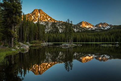 EVENING IN THE ELKHORNS: ANTHONY LAKE, OREGON
