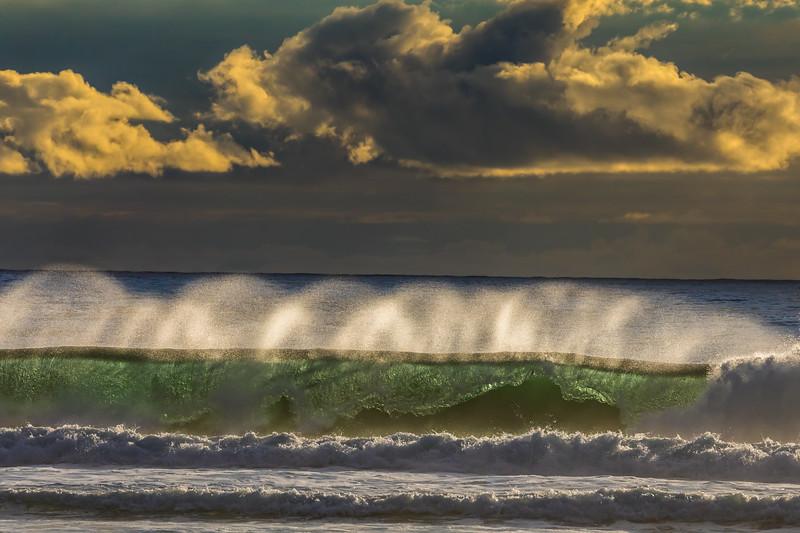 WAVES AND CURLS: BARVIEW JETTY, GARIBALDI OREGON