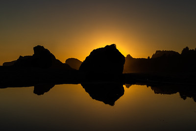 DOUBLE SUNSET: HARRIS BEACH, BROOKINGS OREGON
