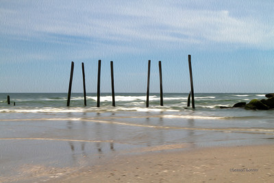 Pier remnants at Ocean City