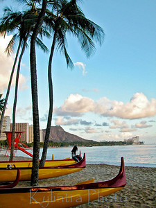 Wakiki Beach and Diamond Head, Oahu, HI