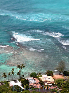 Mansions - taken from top of Diamond Head,Oahu, Hawaii