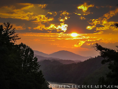 Lake Fontana N.C. Sunset