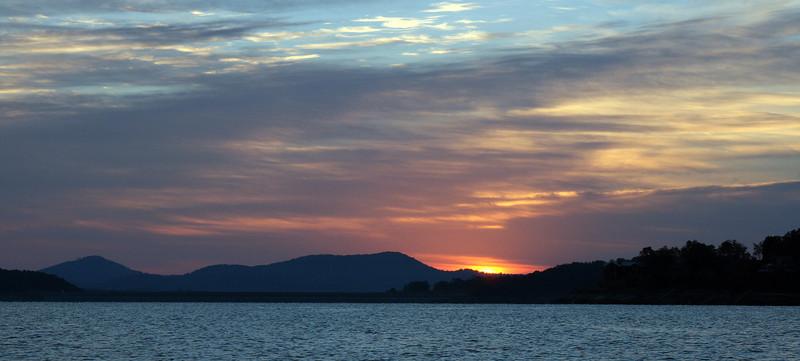 Sunrise over Jocassee