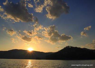 Lake jocassee sunset!