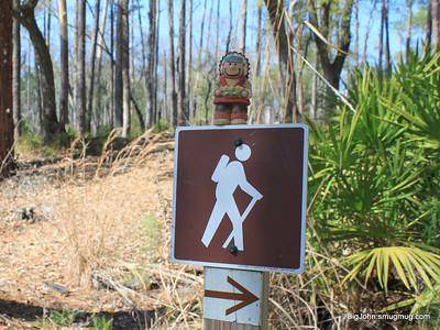 Chief Whatthemuck likes hiking around Billys Island!