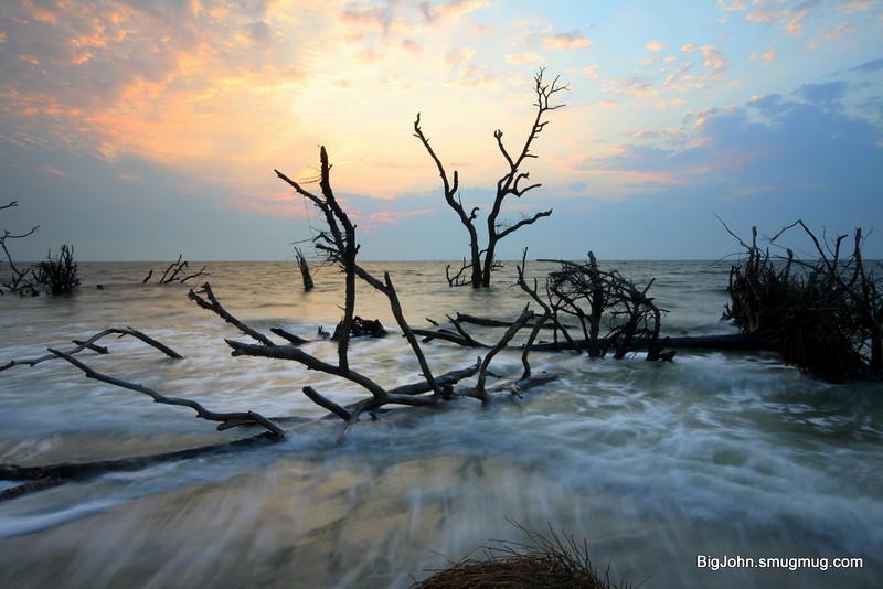 Hunting Island State Park beach @ sunrise