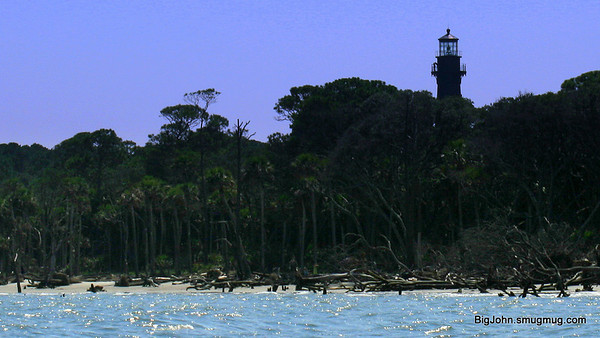 Hunting Island lighthouse from a kayak.