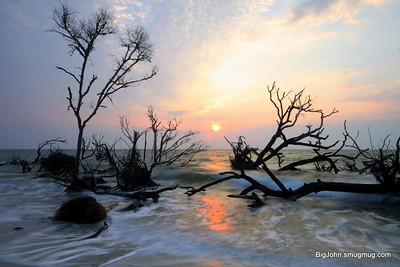 Hunting Island State Park beach @ sunrise
