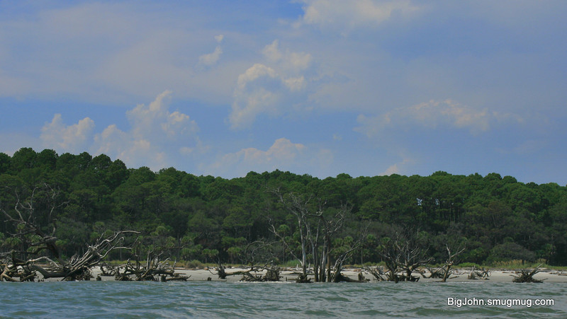 Hunting Island beach from a kayak.