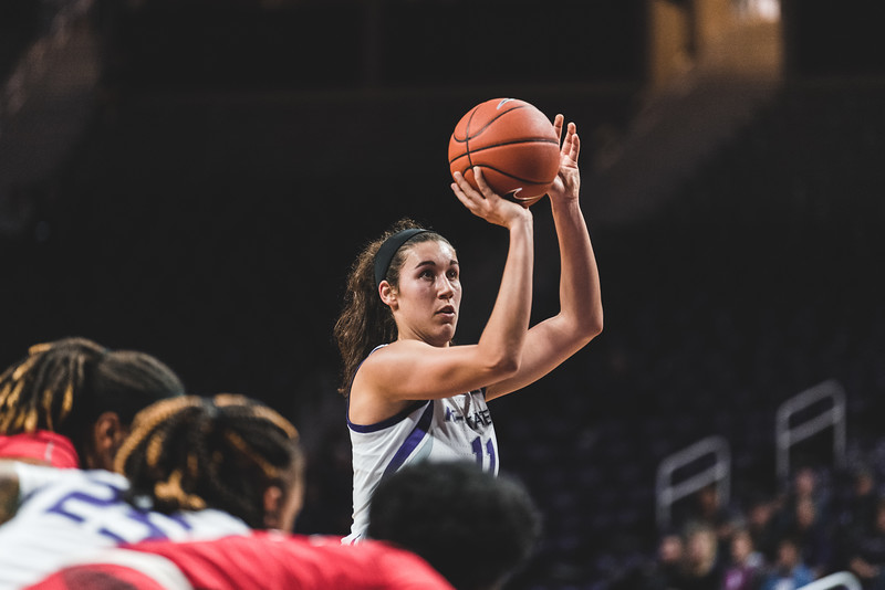 K-State forward Peyton Williams shoots a free throw after being fowled during the game against Lamar on December 5, 2018. The Wildcats defeated the Cardinals 73-55. (Alex Todd | Collegian Media Group)