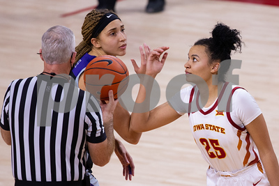 Image from Kansas State - Iowa State womens basketball game at Hilton Coliseum in Ames, Iowa on December 18, 2020. Photo © Wesley Winterink.