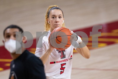 Image from Texas Tech - Iowa State womens basketball game at Hilton Coliseum in Ames, Iowa on February 6, 2021. Photo © Wesley Winterink.