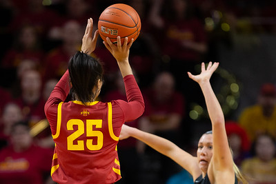 Scene from NCAA basketball game between UNI and Iowa State at Hilton Coliseum in Ames, Iowa on December 22, 2019. Photo © Wesley Winterink.