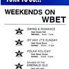 1983 Weekend Lineup