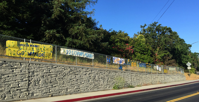 Steph's Fan Posts, near his house but not too close.