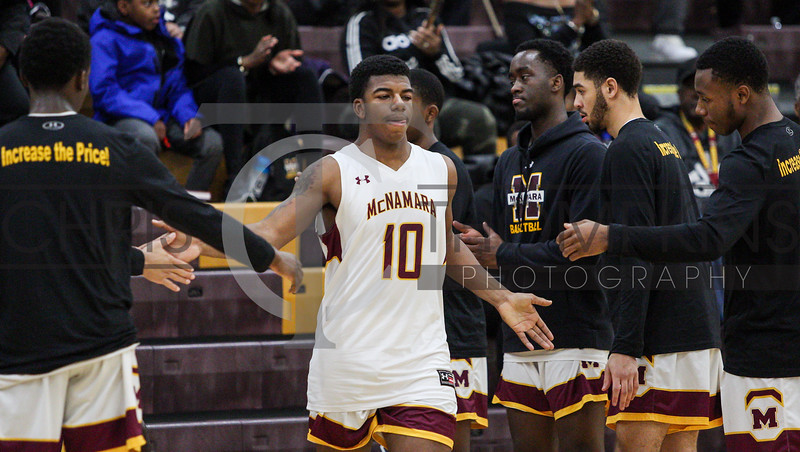 February 9, 2020: WCAC boys basketball matchup between Archbishop Carroll HS and Bishop McNamara HS in Forestville, MD. Photos by Chris Thompkins/thesportsfannetwork