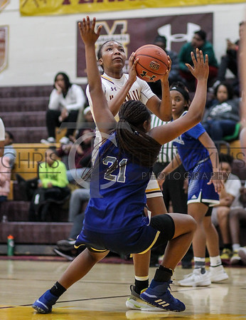 February 1, 2020: WCAC girls basketball action between Bishop McNamara HS and Bishop O'Connell HS in Forestville, MD. Photos by Chris Thompkins/thesportsfannetwork
