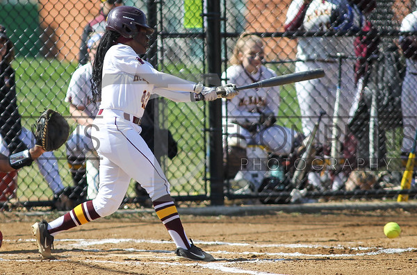 April 6, 2019: WCAC girls softball action between St Johns College HS and Bishop McNamara HS in Forestville. Photo by: Chris Thompkins/PGSportsfan