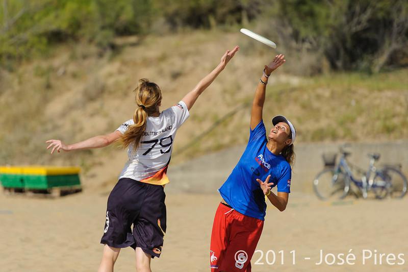 WCBU2011, Lignano Sabbiadoro, Italy.<br /> France  vs Germany. Women Division.<br /> PhotoID : 2011-08-23-0076