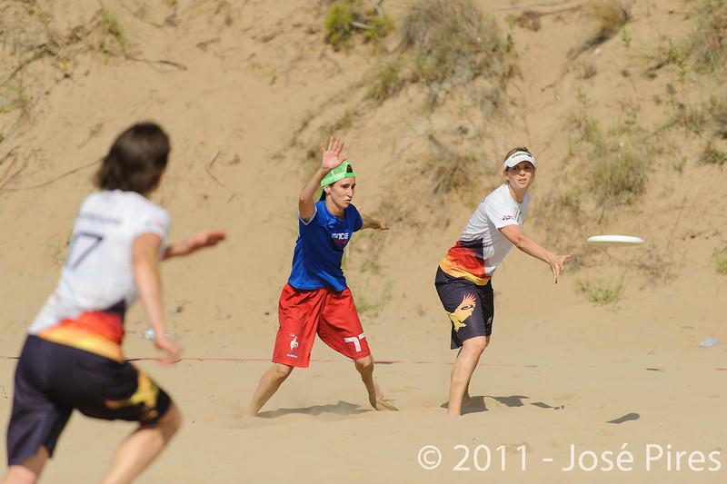 WCBU2011, Lignano Sabbiadoro, Italy.<br /> France  vs Germany. Women Division.<br /> PhotoID : 2011-08-23-0079