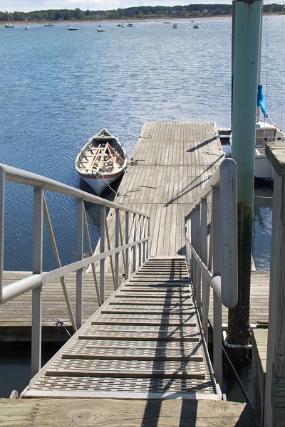 Now that's a steep gangway at low tide!