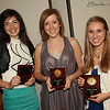 Central Catholic Students Nicole Sauter, Abigail Sugrue and Samantha Wilson