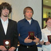Derry awardees Joel DeMary, Troy Kowatch and Molly Snyder