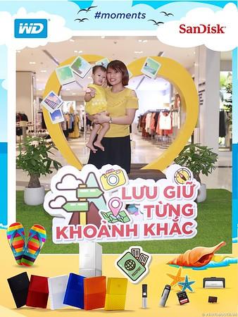 """Sandisk - """"Lưu Giữ Từng Khoảnh Khắc Activation Photobooth @ Aeon Mall Long Biên - instant print photobooth in Ha Noi - chụp hình lấy ngay Sự kiện tại Hà Nội - Photobooth Hanoi"""