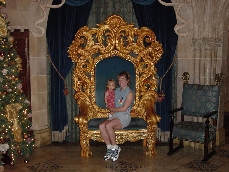 MK Cindy's - Madison & Cathy sitting on throne 12-2-01