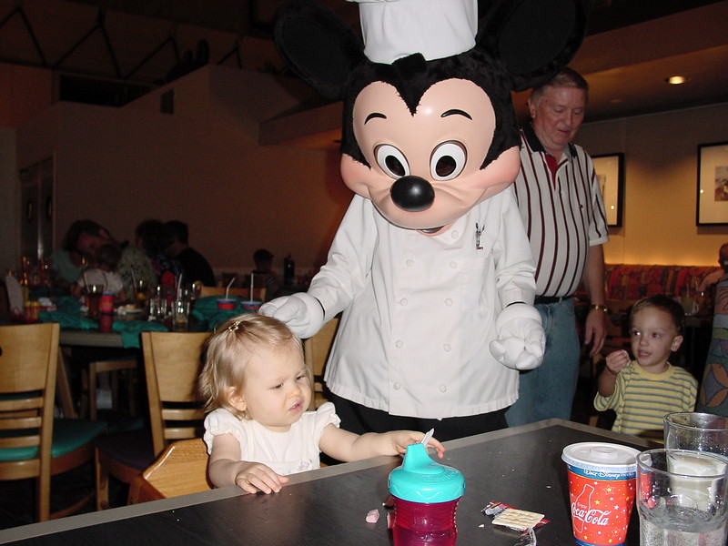 CM - Madison & Chef Mickey at Chef Mickey's 11-30-01