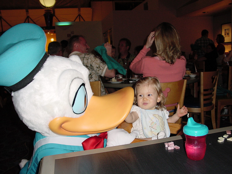 CM - Madison & Donald at Chef Mickey's 3 11-30-01