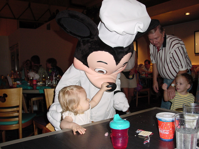 CM - Madison & Chef Mickey at Chef Mickey's 3 11-30-01