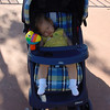 EP - Madison's first nap in her stroller - 12-1-01