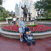 MK - Madison & Cathy in front of Walt & Mickey 2 12-2-01