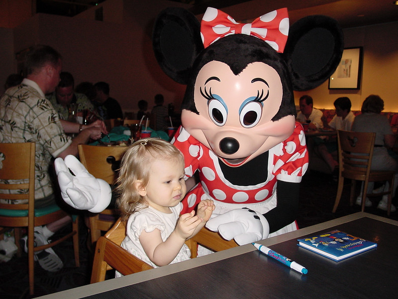 CM - Madison & Minnie at Chef Mickey's 11-30-01