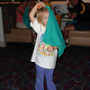 Chef Mickey's - Madison being silly with napkin 12-2-04