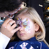 MGM - Madison getting a unicorn face paint 3 12-13-05